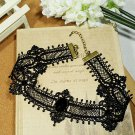 Gothic Lolita Lace ribbon Black Choker necklace bracelet NR226
