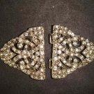 Vintage style Rhinestone clasp dress buckle button BU50
