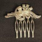 Bridal Crystal Faux pearl Rhinestone Hair tiara Comb RB471