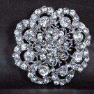 Bridal Rhinestone Vintage style crystal scarf decoration Brooch pin PI545