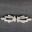 Bridal vintage style crystal Rhinestone clasp hook buckle button BU61
