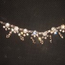 Bridal Rhinestone applique Pendant silver gold tone Headpiece hair tiara HR161