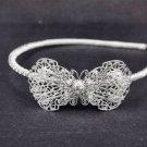 Bridal prom Crystal Butterfly Headpiece Rhinestone Headband Tiara HR153A
