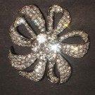 Bridal dress scarf cake decoration crystal Rhinestone Brooch pin PI538