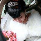 Bridal Faux Fur Shrug Off White Shawl Stole Wrap Cape SF128