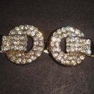 Bridal crystal Rhinestone clasp hook buckle button BU34