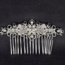 Bridal Rhinestone Faux Pearl Headpiece crystal Hair tiara crown Comb RB496