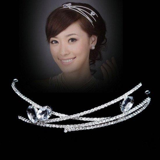 Bridal Rhinestone Crystal headpiece Headdress Crown Tiara HR142