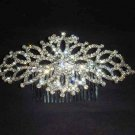 Bridal crystal Headwear rhinestone headpiece hair tiara crown comb RB523