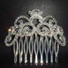 Wedding Bridal crystal Rhinestone Hair tiara Comb RB143