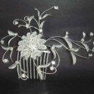 Bridal Crystal Rhinestone Headdress Headpiece Flower Hair tiara Comb RB67