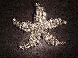 Bridal Starfish crystal Rhinestone Brooch pin Pi205