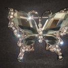 Bridal Butterfly cake dress scarf decoration Crystal Rhinestone Brooch pin PI547