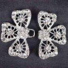 Bridal vintage style Rhinestone clasp hook buckle button BU62