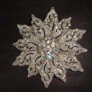 Bridal dress Vintage style crystal Rhinestone Brooch pin PI278