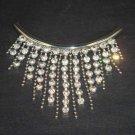Bridal Rhinestone applique crystal pendant necklace NR241