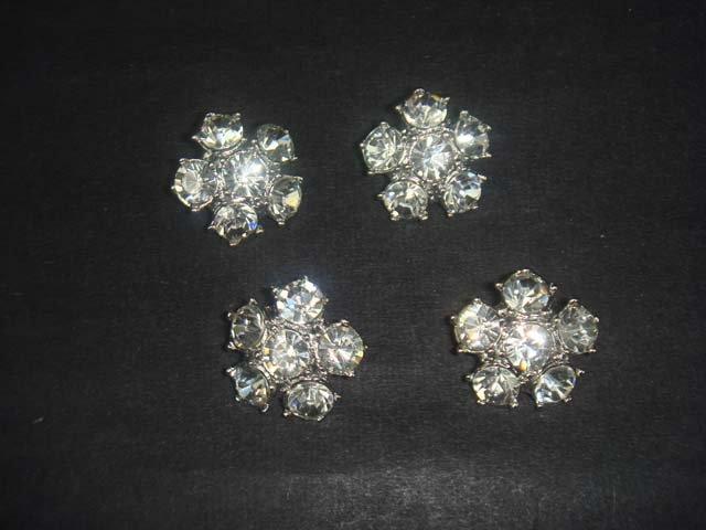 4 pcs Repair Faux Pearl sew crystal Rhinestone repair dress button BN40