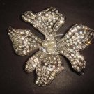 Bridal Crystal Cake decoration Flower Vintage Style Rhinestone Brooch pin PI88
