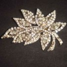 Bridal Leaf cake topper decoration crystal Rhinestone Brooch pin PI478