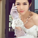 Bridal prom Bow White Black Waist Lace Gloves S35