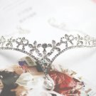 Bridal Rhinestone Crystal Prom Crown dangle Flower Hair tiara necklace HR198