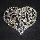Bridal Cake Dress decoration Heart crystal Rhinestone Brooch pin PI588