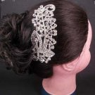Bridal Rhinestone Headdress Headpiece crystal Hair Tiara Comb RB547