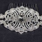 Bridal vintage style rhinestone Headpiece Headdress prom hair tiara comb RB592