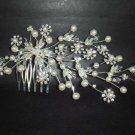 Bridal Faux Pearl Headpiece Headdress Rhinestone Hair tiara Comb RB252