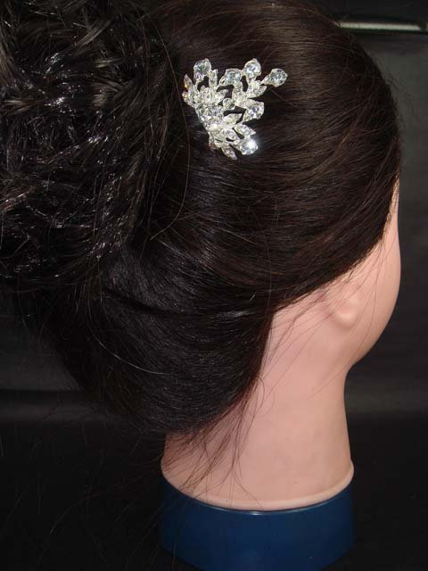 Bridal Rhinestone crystal vintage style headpiece Wedding Tiara Hair Comb RB296