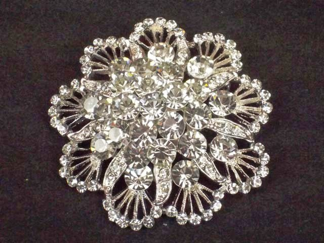 Bridal Cake topper dress circle decoration crystal Rhinestone Brooch pin Pi577