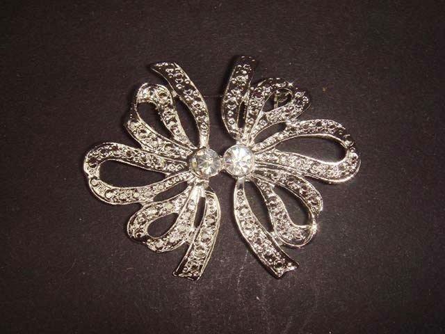 2 pcs Bridal dress cake topper Rhinestone Brooch pin Pi418