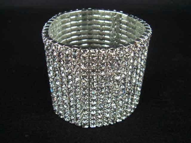 14 row Bridal Wedding Crystal Rhinestone Bracelet BR177
