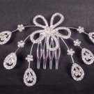 Bridal Rhinestone Crystal Flower Headdress Headpiece Hair tiara Comb RB566