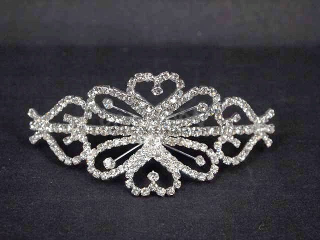 Bridal Crystal Rhinestone Headpiece headdress Heart Hair tiara Comb RB499
