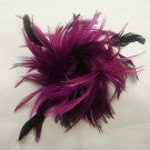 Bridal Feather Fascinator headpiece hair White brooch clip BA149