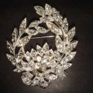 Bridal wreath crystal Vintage style Rhinestone Brooch pin Pi269