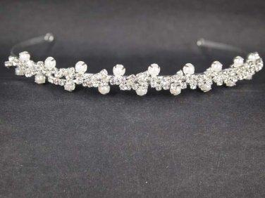 Bridal Rhinestone Crystal Prom Faux pearl Headpiece crown Hair tiara HR192
