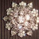 Bridal Crystal Cake dress decoration Vintage style Rhinestone Brooch pin PI27