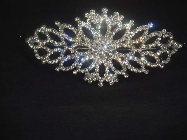 Bridal Rhinestone Crystal topknot Headdress Headpiece Hair tiara HR186