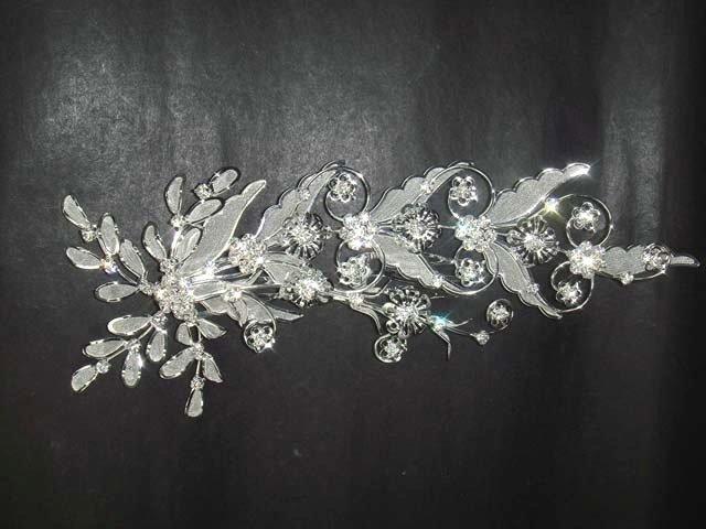 Bridal Rhinestone Flower Crystal Headpiece Headdress Hair tiara Comb RB374