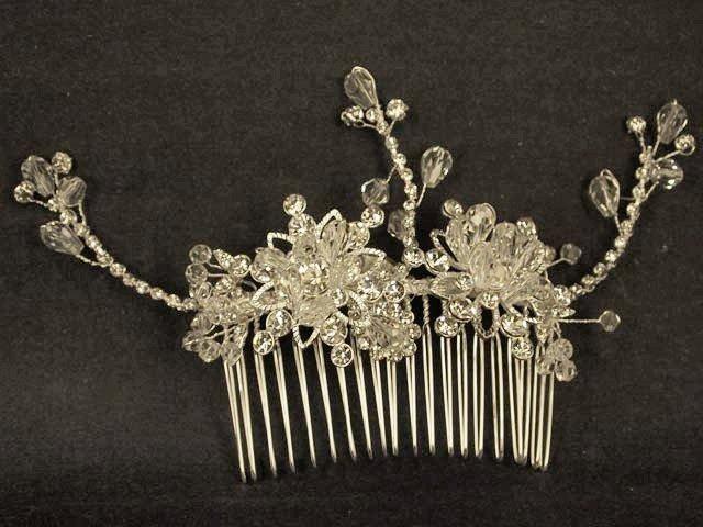 Bridal Crystal Adjustable Rhinestone Hair tiara Comb RB470