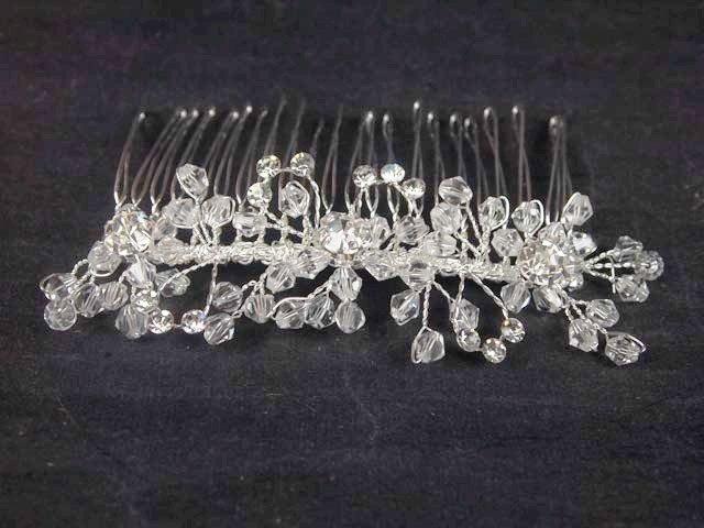 Bridal Rhinestone Headdress Headpiece crystal Hair Tiara Comb RB544