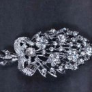 Bridal Rhinestone crystal scarf cake dress decoration  Brooch pin PI553