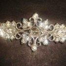 Bridal vintage style crystal sew repair Rhinestone clasp hook button BU66