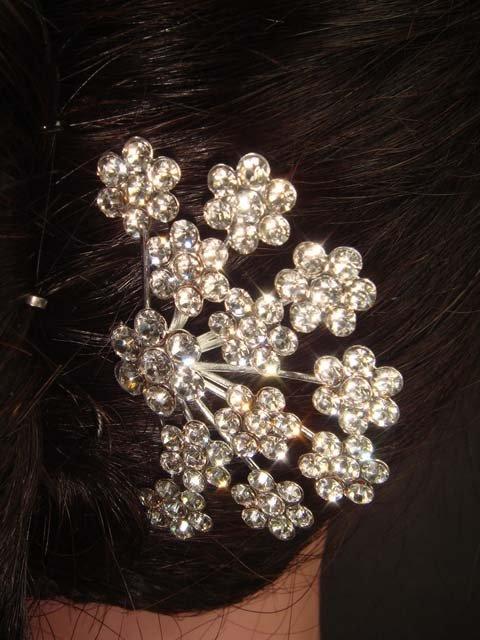 3 pcs Bridal Rhinestone Crystal Hairpin tiara Hair Pin RP94