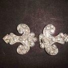 Bridal vintage Rhinestone clasp hook buckle button BU42