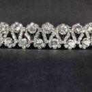 Bridal Rhinestone Crystal Prom 2 row Headpiece Hair tiara Comb RB589