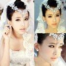 Bridal Rhinestone Crystal Crown Faux pearl Headpiece Headdress Hair tiara NR393A