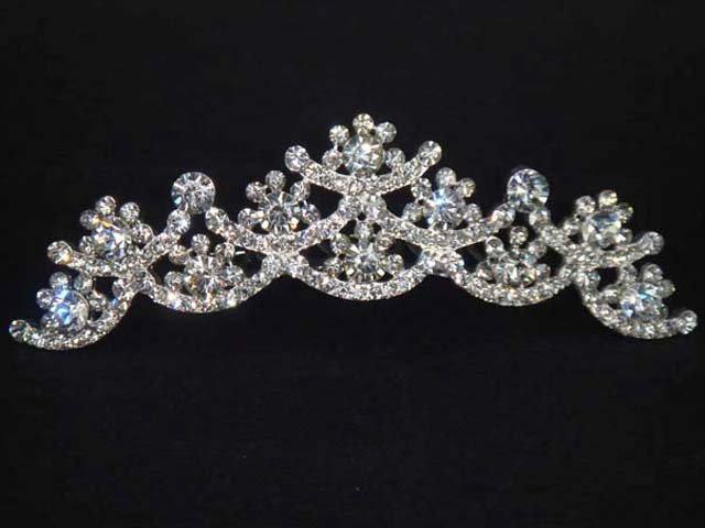 Bridal Rhinestone Headdress headpiece crystal Hair tiara Comb HR164
